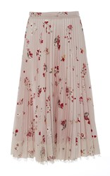 Red Valentino Pleated Midi Skirt Pink