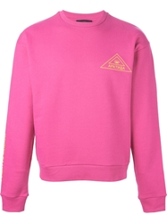 Gosha Rubchinskiy Printed Logo Sweatshirt Pink And Purple