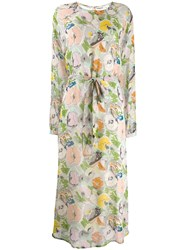 Essentiel Antwerp Floral Print Midi Dress Green