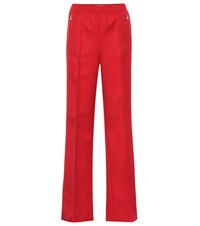 Prada Cotton Blend Track Pants Red