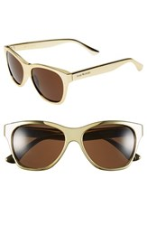 Women's Isaac Mizrahi New York 55Mm Retro Sunglasses Gold