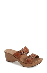 Dansko 'Vista Collection Jessie' Double Strap Sandal Women Caramel Croc