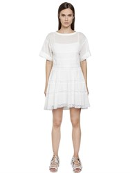 Philosophy Di Lorenzo Serafini Cotton Muslin Dress With Lace Inserts