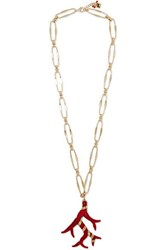 Rosantica Isola Gold Tone And Resin Necklace One Size