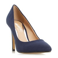 Head Over Heels Alice Pointed Toe High Heel Court Shoes Navy
