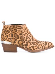 Buttero Animal Print Ankle Boots Women Horse Leather Leather 39 Nude Neutrals