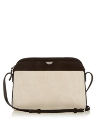 The Row Multi Pouch Canvas And Suede Cross Body Bag Black Cream