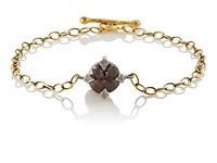 Cathy Waterman Women's Rustic Diamond Charm Bracelet No Color