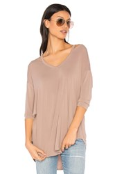 Michael Stars Slit Shoulder Tee Taupe