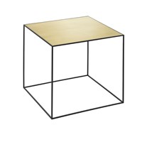By Lassen Twin Table Misty Green And Brass Medium