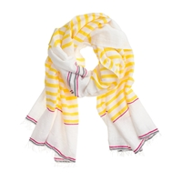 Lemlem For J.Crew Lilly Scarf Retro Lemon