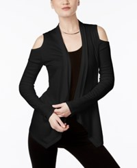 Inc International Concepts Off The Shoulder Cardigan Only At Macy's Deep Black