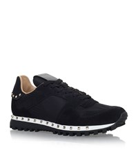 Valentino Studsole Camo Sneakers Female Black