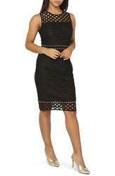 Dorothy Perkins Eyelet Lace Sheath Dress Black