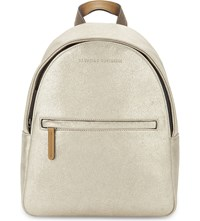 Brunello Cucinelli Glitter Leather Backpack Gold