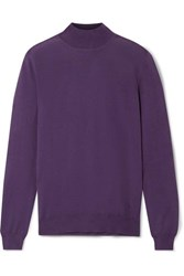 Tom Ford Cashmere And Silk Blend Turtleneck Sweater Grape