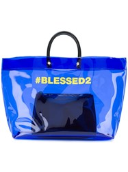 Dsquared2 Blessed2 Shopper Tote Blue