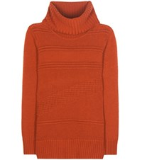 Diane Von Furstenberg Talassa Wool And Cashmere Knit Sweater Orange