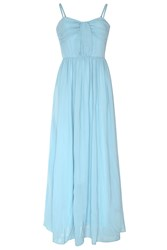 True Decadence Bow Pleat Maxi Dress Light Blue