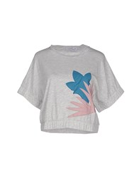 Lo Not Equal Topwear T Shirts Women Light Grey