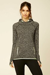 Forever 21 Active Marled Knit Hoodie