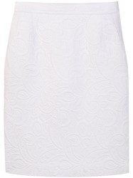 Yves Saint Laurent Vintage 1980'S Quilted Pencil Skirt White