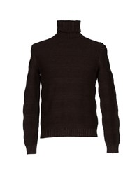 Zanone Knitwear Turtlenecks Men Dark Brown