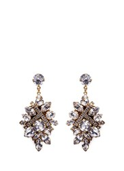 Erickson Beamon 'Parlor Trick' Swarovski Crystal Cluster Drop Earrings White
