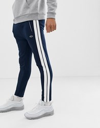 Replay Jogger With Side Stripe In Navy