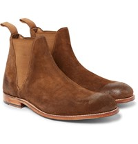 Grenson Nolan Burnished Suede Chelsea Boots Tan