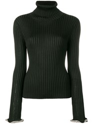 Alexander Wang Crystal Embellished Cuffs Jumper Black
