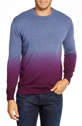 Bugatchi Ombre Crewneck Sweater Wine