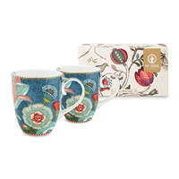 Pip Studio Spring To Life Mugs Blue Set Of 2 Large