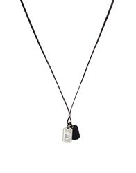 Diesel Albino Dogtag Necklace Brown