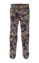 Nili Lotan Cropped Camo Military Pants Print