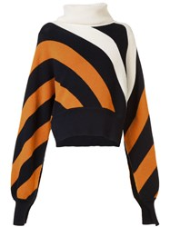 Monse Striped Turtleneck Jumper Yellow And Orange