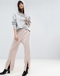 Asos White Split Front Pull On Trouser Pink