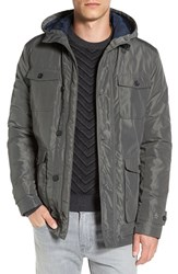 Original Penguin Men's Poly Memory Hooded Jacket