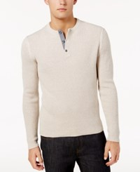 American Rag Men's Henley Sweater Created For Macy's Oat Heather