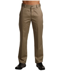 Dockers Signature Khaki D1 Slim Fit Flat Front British Khaki Men's Dress Pants Brown