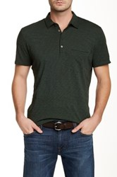 7 For All Mankind Raw Placket Polo Green