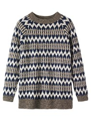 Toast Nordic Fairisle Donegal Jumper Neutral Midnight Multi