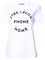 Etre Cecile 'Ec Phone Home' T Shirt White
