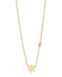 Shy By Sydney Evan Star Of David Bezel Diamond Necklace