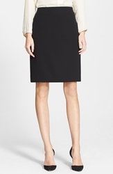 Akris Double Face Pencil Skirt Black