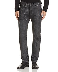 Prps Goods And Co. Coated Slim Fit Jeans In Black