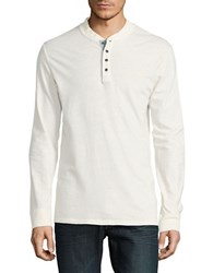 Timberland Long Sleeve Henley Shirt Antique White