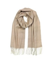 Mila Schon Pure Cashmer Long Scarf W Fringe Pink