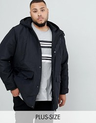 Only And Sons Parka With Fleece Lined Hood Black