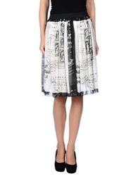 Adele Fado Knee Length Skirts White